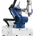 AL-ROCK mobile system for hardening with robotic hand