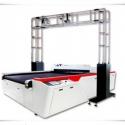 Lazerinė sistema su optine vaizdo atpažinimo sistema