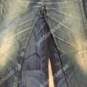 Jeans denim engraving